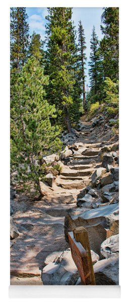 Yoga Mat featuring the photograph Hiking To Devils Postpile by Kristia Adams