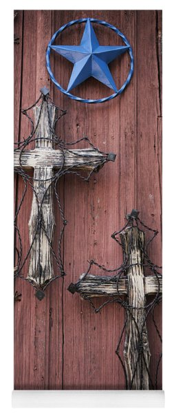 Hill Country Crosses Yoga Mat