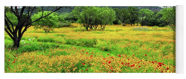 Hill Country Wildflowers Yoga Mat