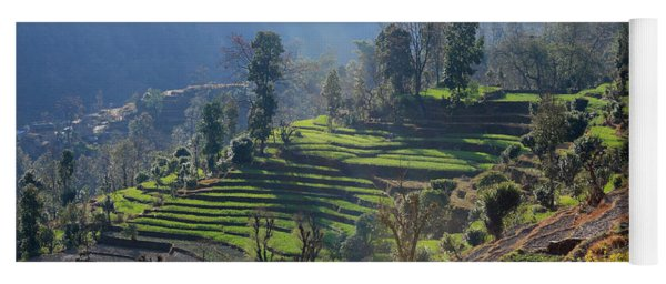 Himalayan Stepped Fields - Nepal Yoga Mat