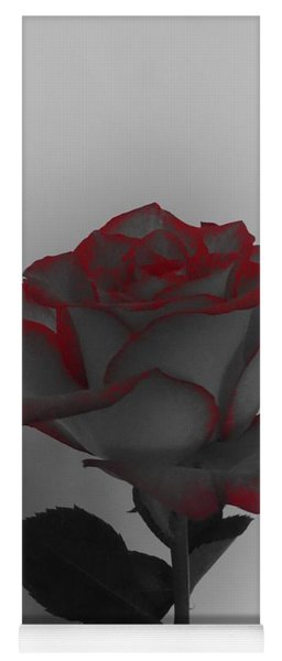 Hints Of Red- Single Rose Yoga Mat