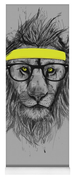 Hipster Lion Yoga Mat