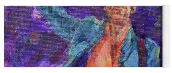 His Purpleness - Prince Tribute Painting - Original Art Yoga Mat