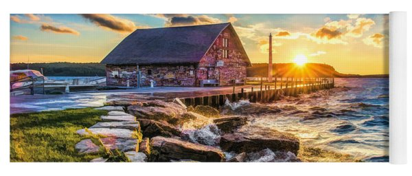Historic Anderson Dock In Ephraim Door County Yoga Mat