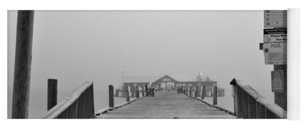 Historic Anna Maria City Pier In Fog Infrared 52 Yoga Mat
