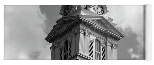 Historic Courthouse Steeple In Bw Yoga Mat