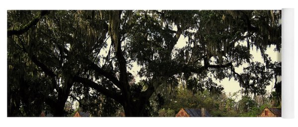Historic Slave Houses At Boone Hall Plantation In Sc Yoga Mat