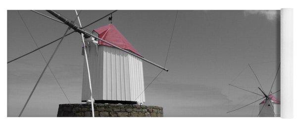 Historical Windmills At Portela Yoga Mat