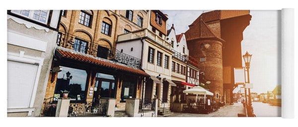 Historical Zuraw Crane And Old Town Near Motlawa Yoga Mat