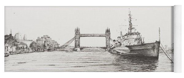 Hms Belfast On The River Thames Yoga Mat