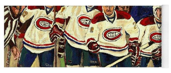 Hockey Art The Habs Fab Four Yoga Mat