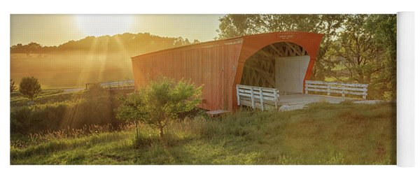 Yoga Mat featuring the photograph Hogback Covered Bridge 2 by Susan Rissi Tregoning