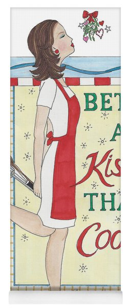 Holiday Kissing Cooking Yoga Mat