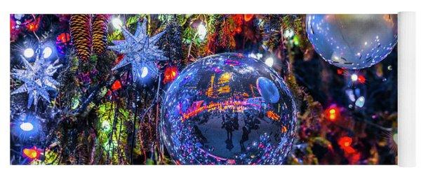 Holiday Tree Ornaments Yoga Mat