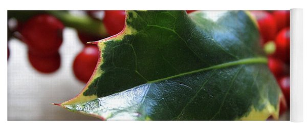 Holly Berries- Photograph By Linda Woods Yoga Mat