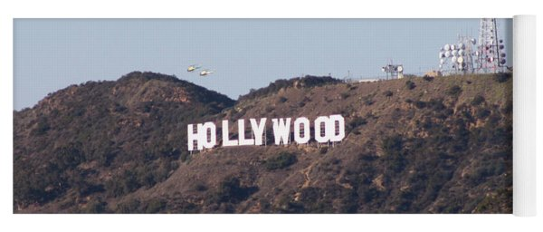 Hollywood And Helicopters Yoga Mat