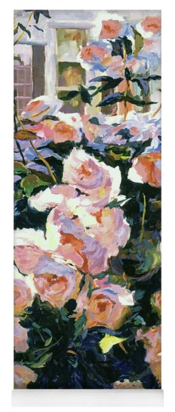 Hollywood Cottage Garden Roses Yoga Mat