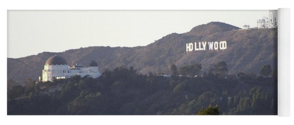Hollywood Hills And Griffith Observatory Yoga Mat
