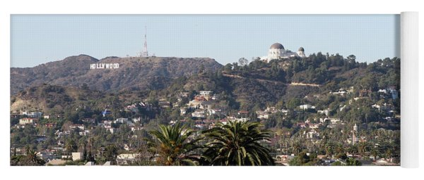 Hollywood Hills From Sunset Blvd Yoga Mat