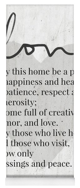 Home Blessing Rustic- Art By Linda Woods Yoga Mat