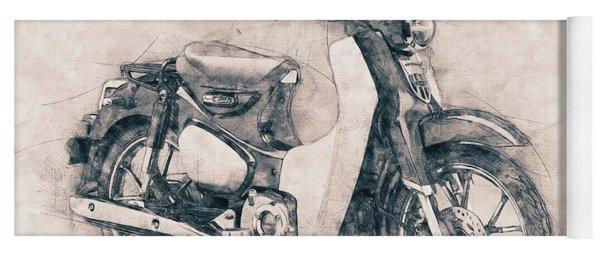 Honda Super Cub - Motor Scooters - 1958 - Motorcycle Poster - Automotive Art Yoga Mat