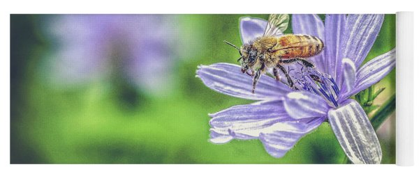 Honey Bee And Flower Yoga Mat