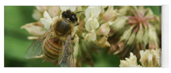Yoga Mat featuring the photograph Honey Bee by Pamela Walton