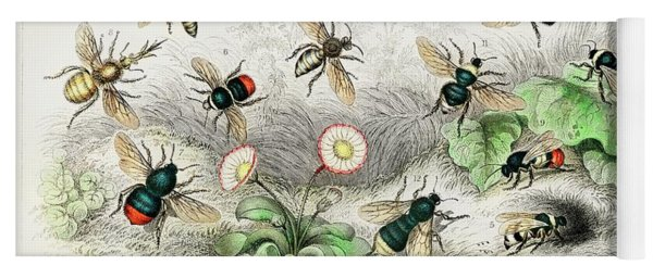 Honey Bees, Humble Bee Yoga Mat