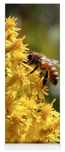 Honeybee On Showy Goldenrod Yoga Mat