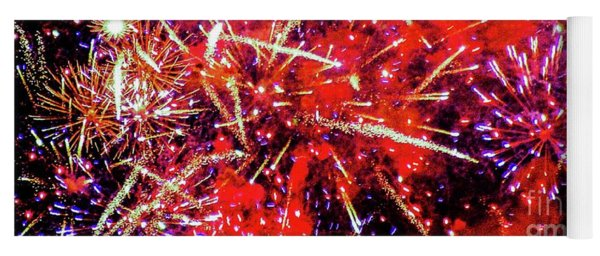 Honolulu Fireworks Yoga Mat