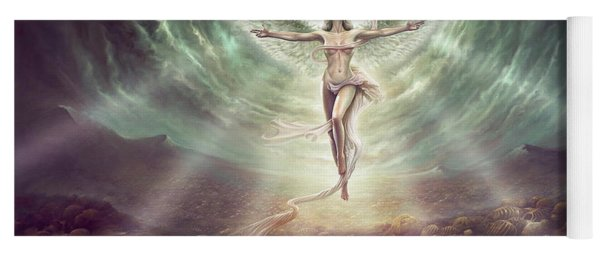 Yoga Mat featuring the digital art Hope by Uwe Jarling