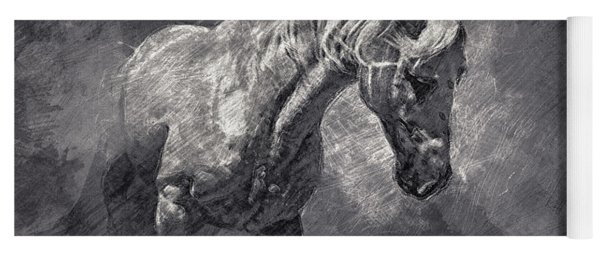 Horse Art Drawing Yoga Mat