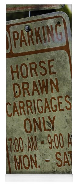 Horse Drawn Carriage Parking Yoga Mat
