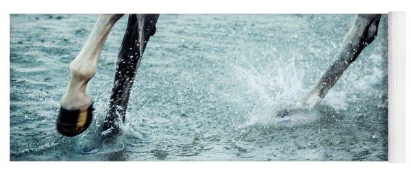 Horse Legs Running On The Water Yoga Mat