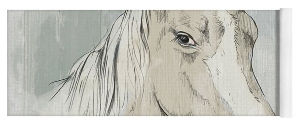 Horse Portrait-farm Animals Yoga Mat