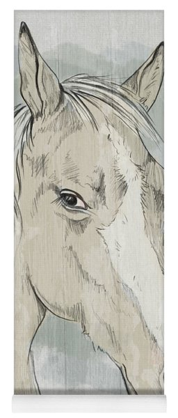 Horse Portrait-farm Animals Yoga Mat