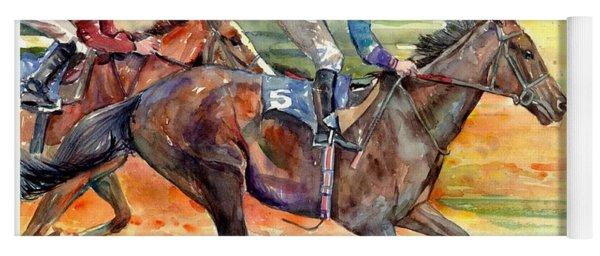 Horse Races Yoga Mat