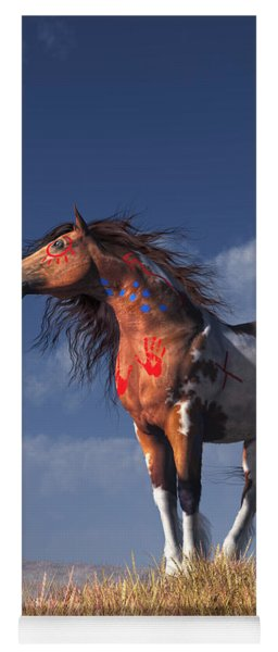 Horse With War Paint Yoga Mat