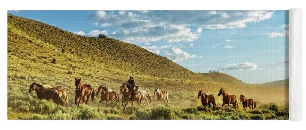 Horses And More Horses Yoga Mat