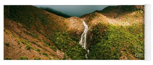 Horsetail Falls In Queenstown Tasmania Yoga Mat