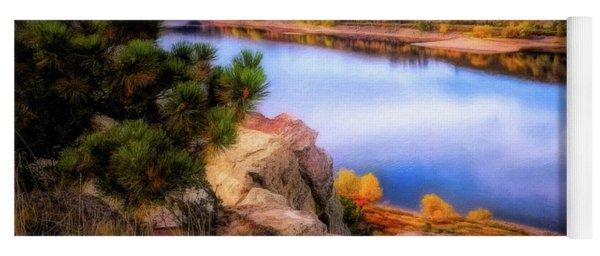 Horsetooth Lake Overlook Yoga Mat
