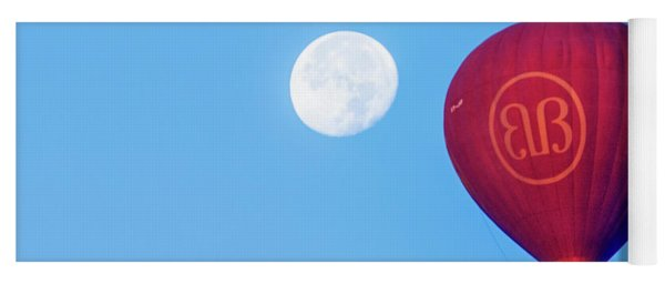Hot Air Balloon And Moon Yoga Mat