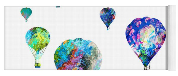 Hot Air Balloons Yoga Mat