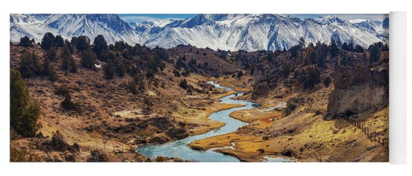 Yoga Mat featuring the photograph Hot Creek by Tassanee Angiolillo