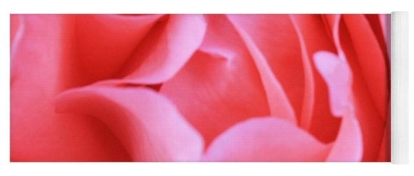 Hot Pink Petals Yoga Mat