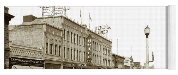 Hotel Cominos On Main Street In Salinas, Calif. Circa 1932 Zan Stark Photo # 423  Yoga Mat
