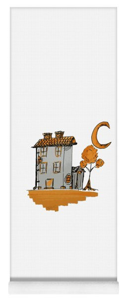 House And Moon Yoga Mat