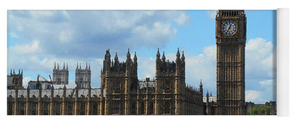House Of Lords Big Ben Tower London Yoga Mat