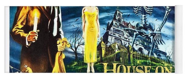 House On Haunted Hill Poster Classic Horror Movie  Yoga Mat