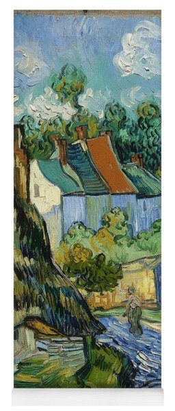 Yoga Mat featuring the painting Houses In Auvers by Van Gogh